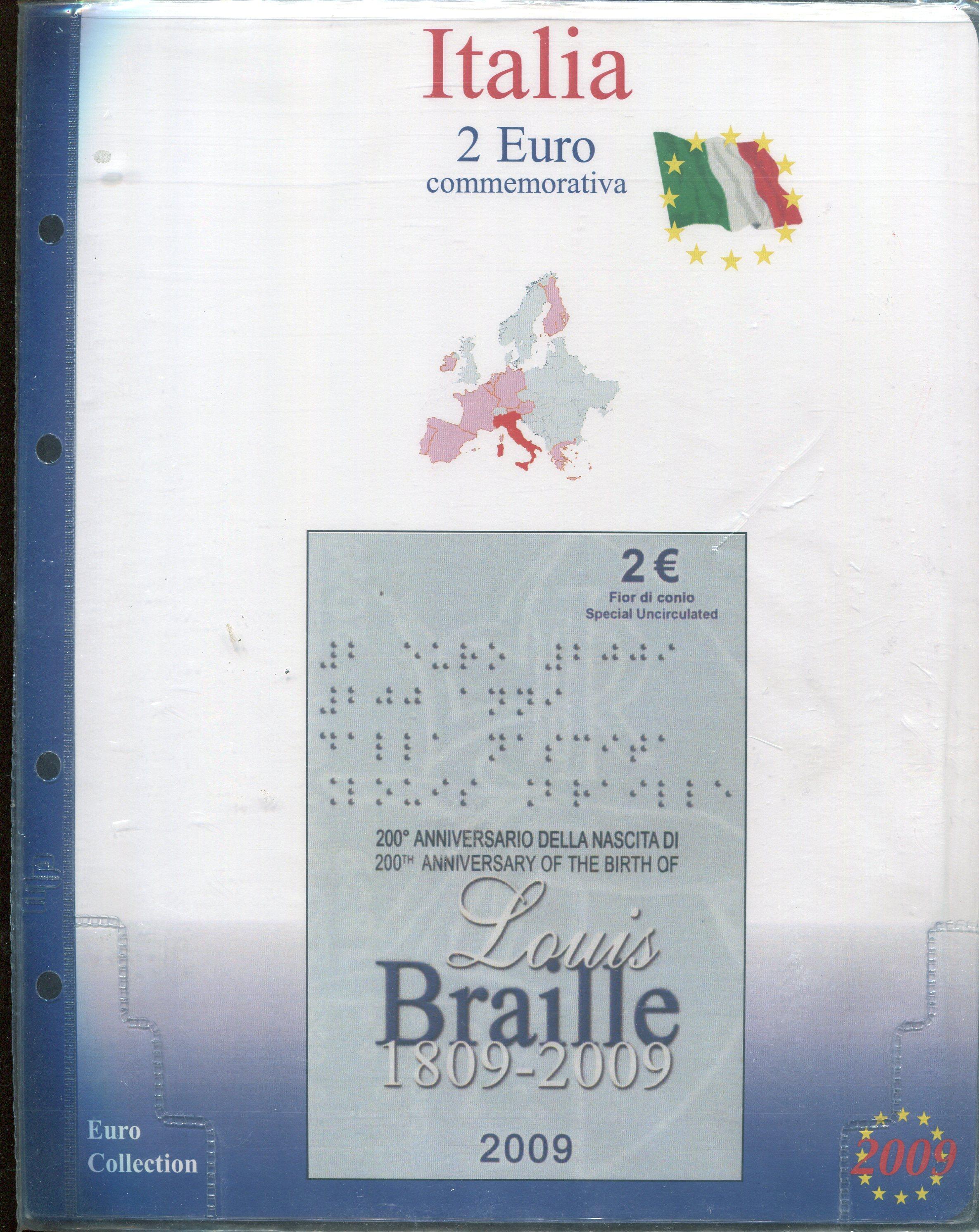 9a08927651 FOGLI PER 2 EURO ITALIA IN BLISTER E COINCARD - MASTERPHIL - RomanPhil