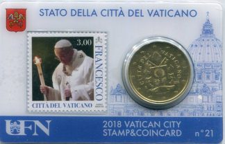 Stamp and coin card