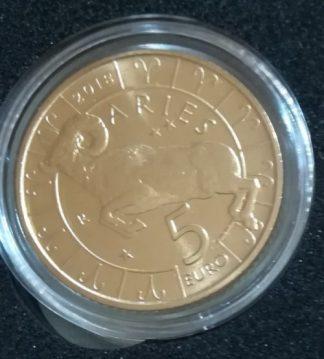 5 euro bimetallico