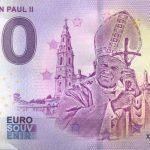 NEWS 0 euro souvenir - <b> PAPA GIOVANNI PAOLO II </B>
