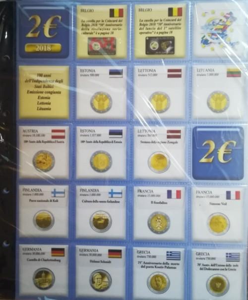 FOGLI PER 2 EURO COMMEMORATIVI  2018 PER ALBUM SMART- ABAFIL