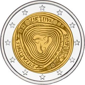2_euro_commemorativo_lituania_2019_sutartines