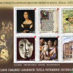 2019 - 50° anniversario comando caribinieri tutela patrimonio culturale - foglietto SMOM