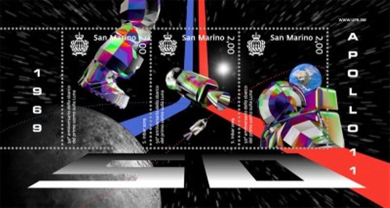 new 2019 - emissione 2 ottobre- 50° sbarco del primo uomo sulla Luna - Foglietto