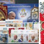 <b>2019 </b>(ANN.CPL) Francobolli Vaticano - Pontificato di Francesco con francobollo stoffa