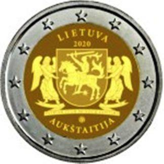 2_euro_commemorativo_lituania_2020_Aukstaitija