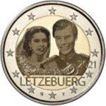 2021 LUSSEMBURGO - 40º anniversario di matrimonio del Granduca Enrico con Maria Teresa <b>COPPIA <b>  senza e con ologramma