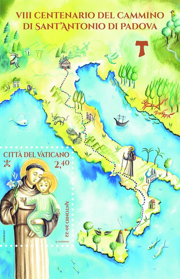 2021 - VIII CENTENARIO DEL CAMMINO DI SANT'ANTONIO DI PADOVA - FOGLIETTO