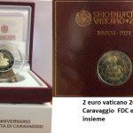 novità 2021 - 450° nascita Caravaggio FDC e Proof insieme