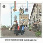 novità 2021 - Emissione congiunta San Marino-Italia - Centenario del distaccamento dei Carabinieri a San Marino