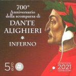 Novità 2021 - 700° scomparsa Dante Alighieri 5 euro Argento
