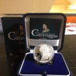 Novità 2021 - 5 € Ag Proof Italia 2021 - 450° Anniversario della nascita di Caravaggio