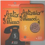 Novità 2021 - 5€ RAME Italia 2021 - 150° Ann. dell'invenzione del telefono di Antonio Meucci